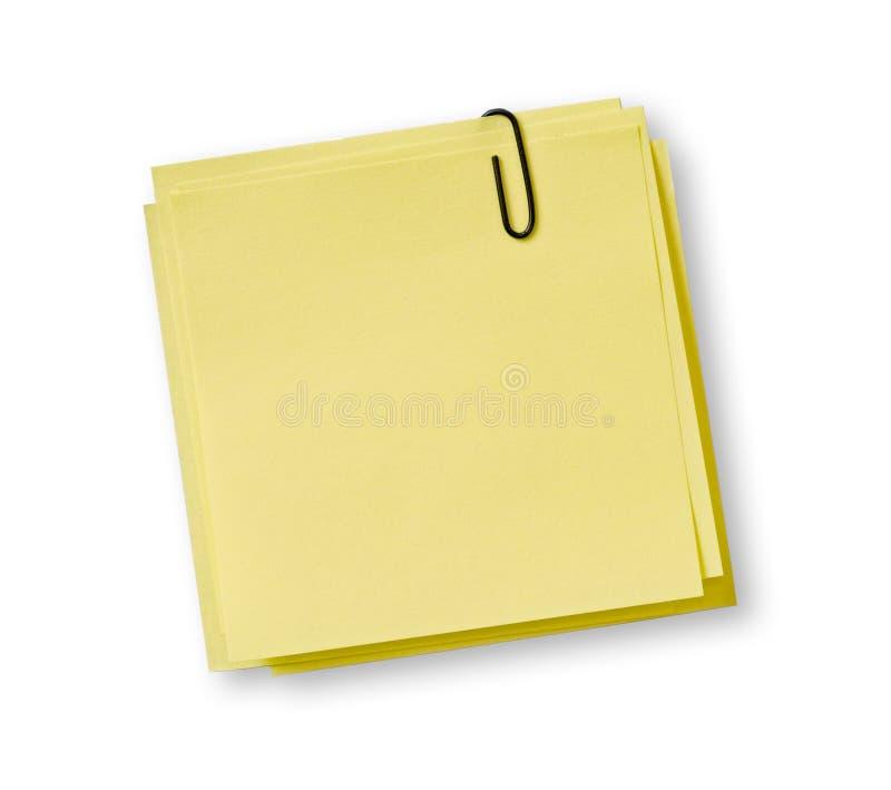 Żółte notatki fotografia stock