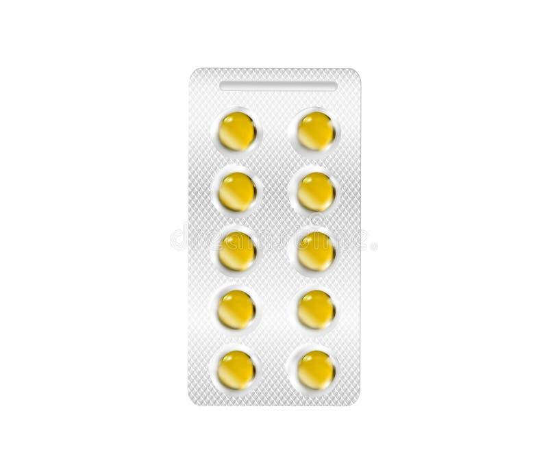 Żółte wektorowe pigułki royalty ilustracja