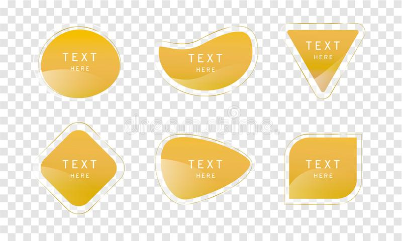 Żółtego musztarda jasnego premii krystaliczny sztandar na przezroczystości tle, eleganckiego glansowanego elementu wektorowy proj ilustracja wektor