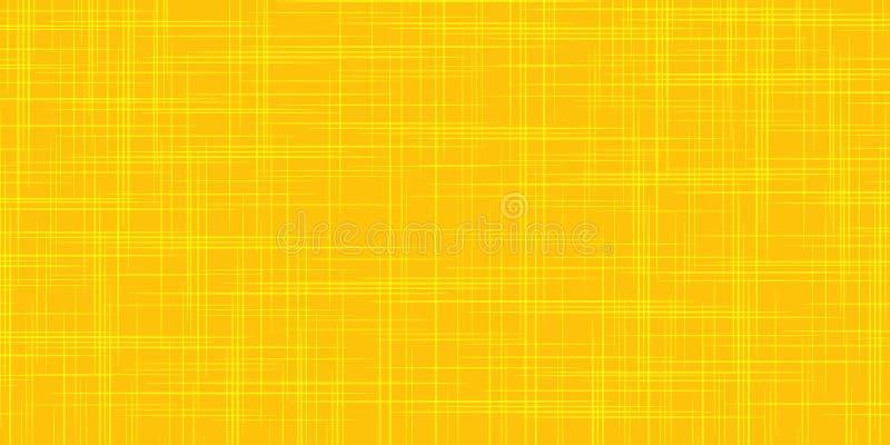 Żółtego pomarańczowego grunge porysowany tło ilustracja wektor