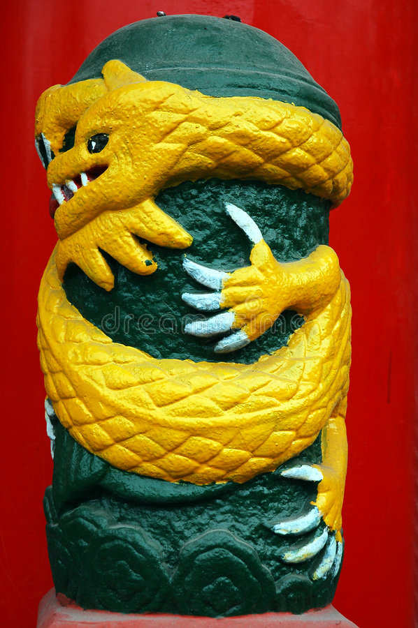 Żółtego smoka obrazy stock
