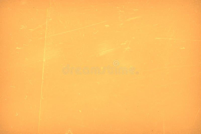 Żółtego soczystego abstrakta porysowany tło winieta Grunge tekstura ilustracji