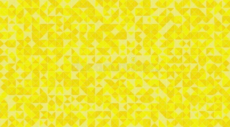 Żółtej mozaiki trójbok tafluje podłogi lub ściany dekorację dla tapety Architektura projekta wzoru tekstury materialny tło, royalty ilustracja