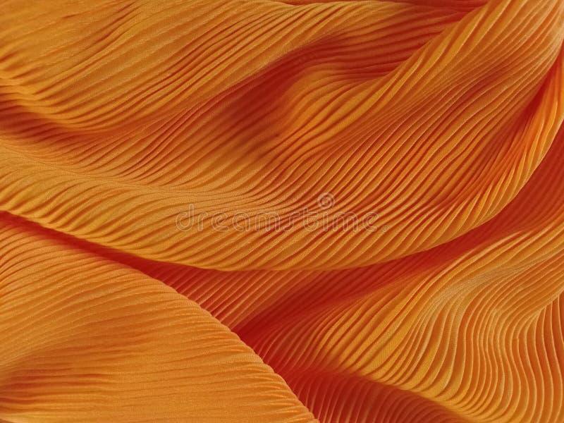 Żółtej tkaniny Textured tło zdjęcie royalty free