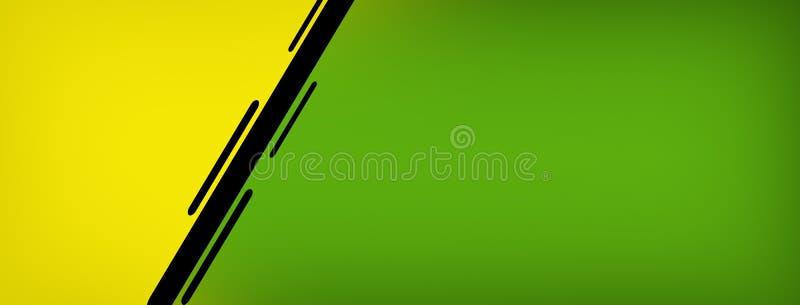 żółtej zieleni sztandaru tła wizerunku czerń 016 ilustracji