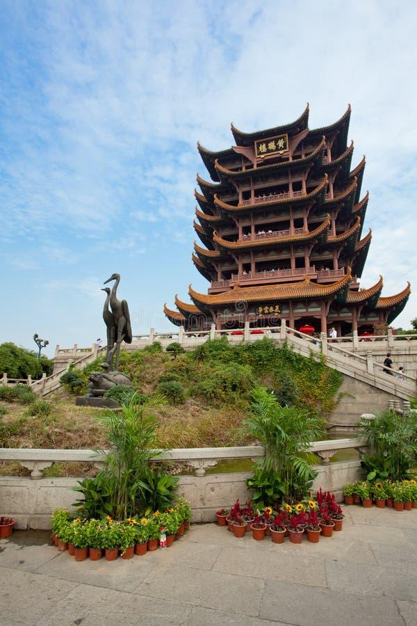 Żółty żurawia wierza świątynny Wuhan Hubei Chiny obrazy royalty free
