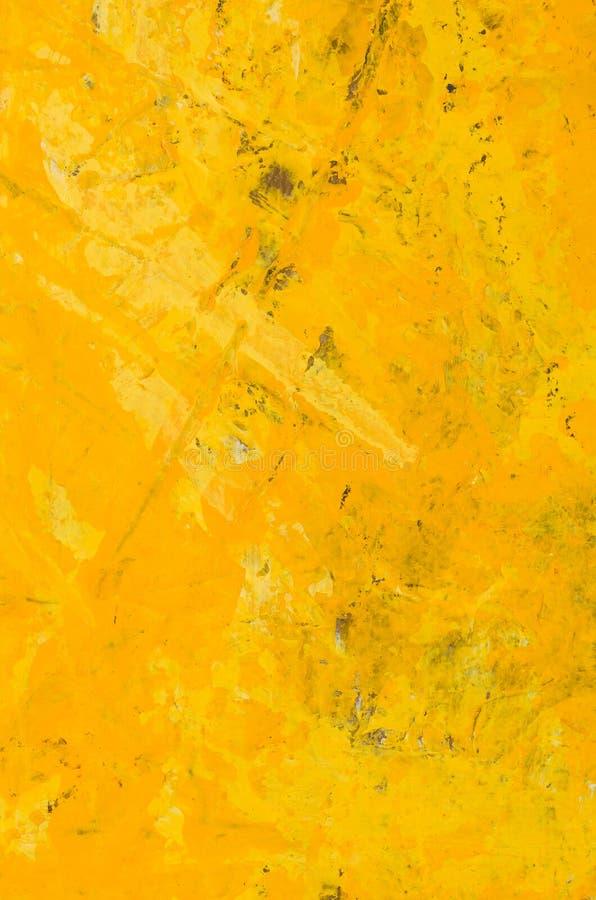 Żółty abstrakcjonistyczny akrylowy obraz ilustracji