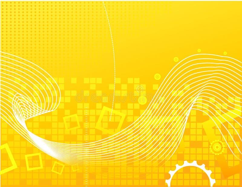 Żółty abstrakcyjne tło ilustracji
