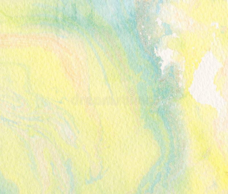 Żółty akwareli tło - abstrakt granica ilustracji