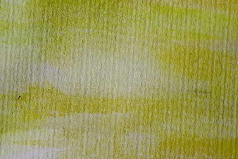 Żółty akwareli tło na textured papierze Żółta abstrakcjonistyczna akwareli tekstura, tło dla projekta i zdjęcia stock