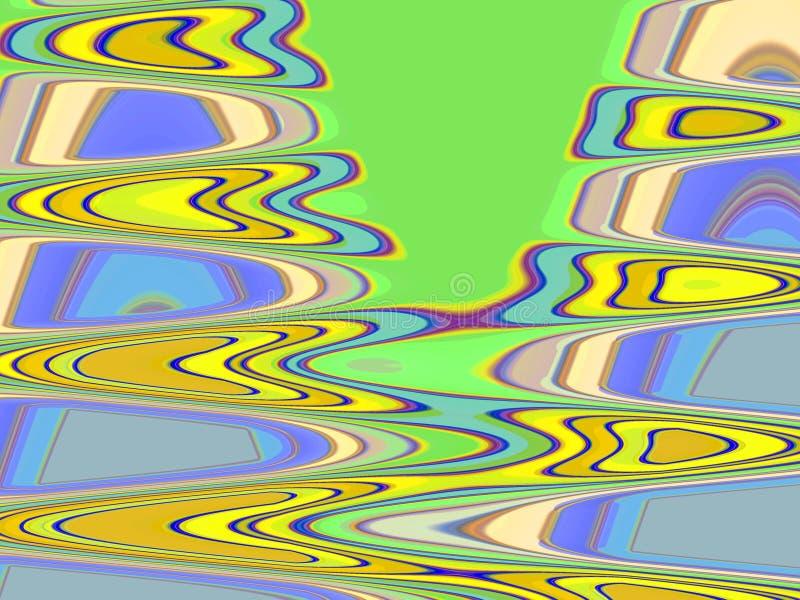 Żółty błękitny geometrii tło, grafika, abstrakcjonistyczny tło i tekstura, ilustracja wektor