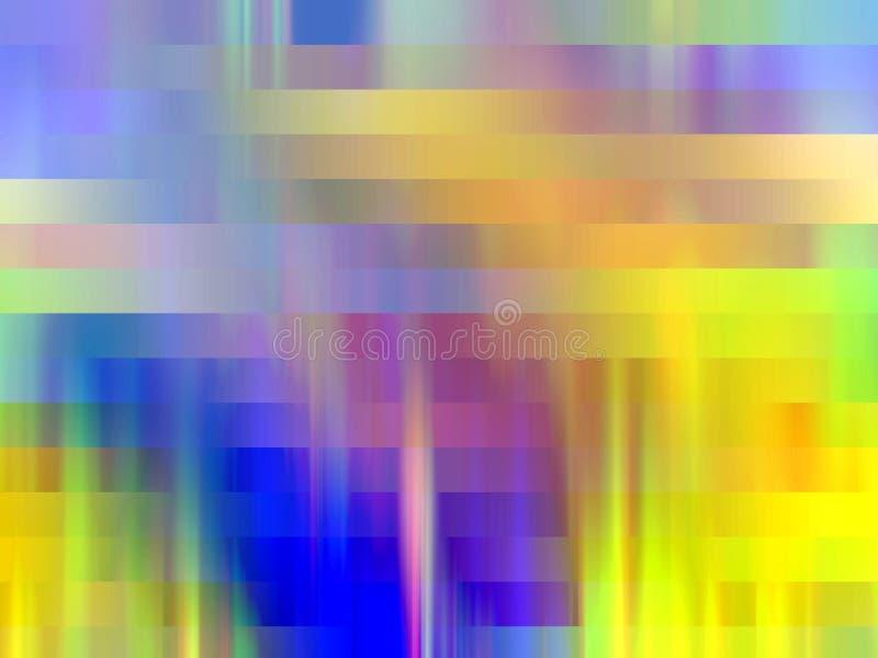 Żółty błękitny lśnienie wykłada geometrii tło, grafika, abstrakcjonistycznego tło i teksturę, royalty ilustracja