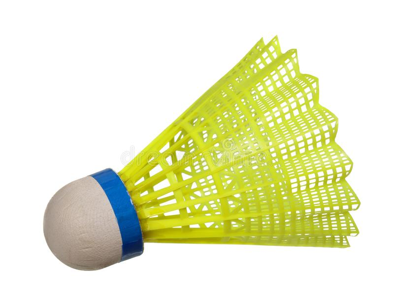 Żółty badminton shuttlecock zdjęcia royalty free