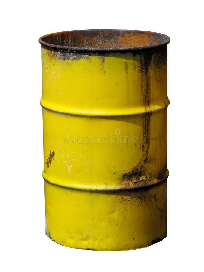 Żółty barrel fotografia stock