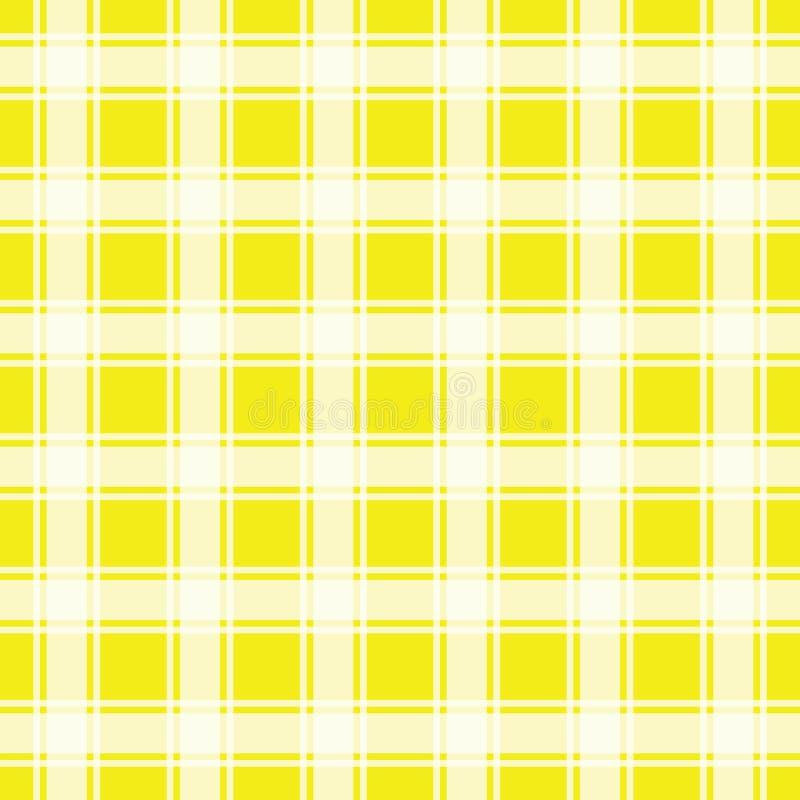 Żółty bezszwowy wzór, gingham tło royalty ilustracja