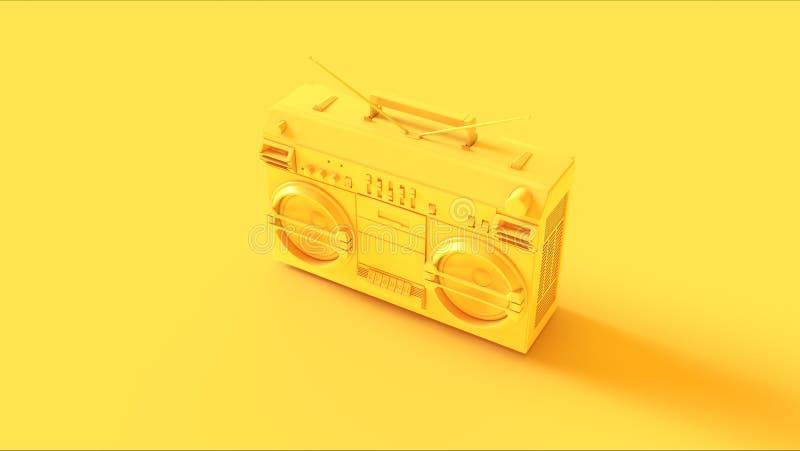 Żółty Boombox ilustracja wektor