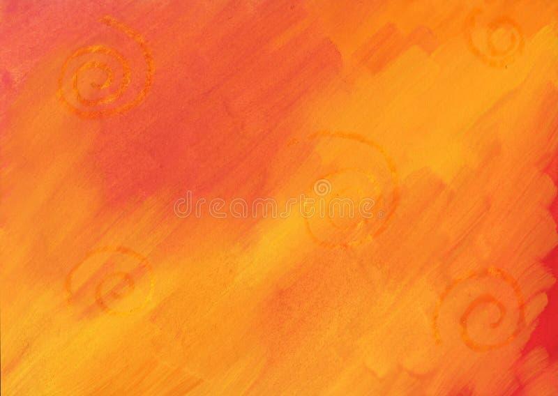 Żółty czerwone tło obrazy stock