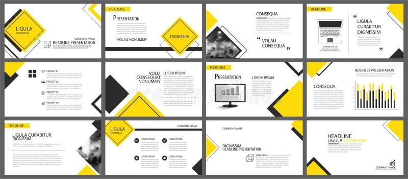 Żółty element dla obruszenia infographic na tle prezentacja ilustracja wektor