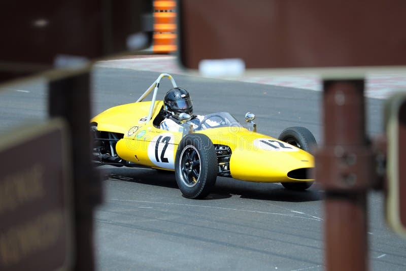 Żółty Emeryoson F1 klimaks zdjęcie stock