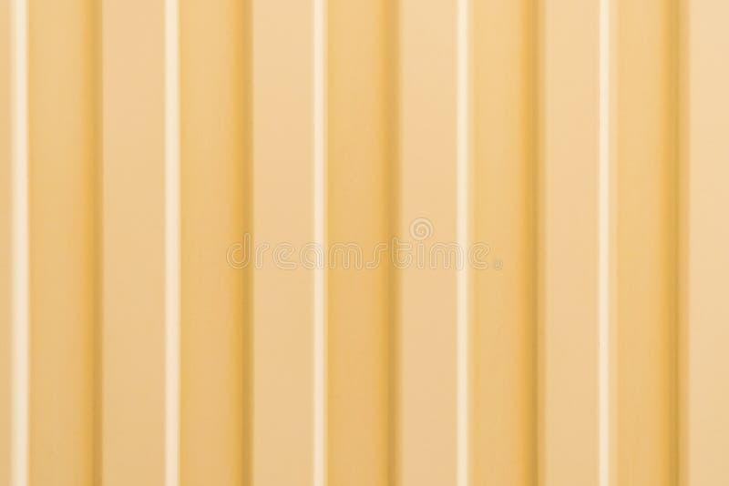 Żółty falisty metalu profil zdjęcia stock