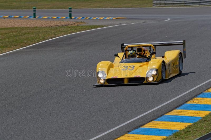 Żółty Ferrari 333P obrazy royalty free