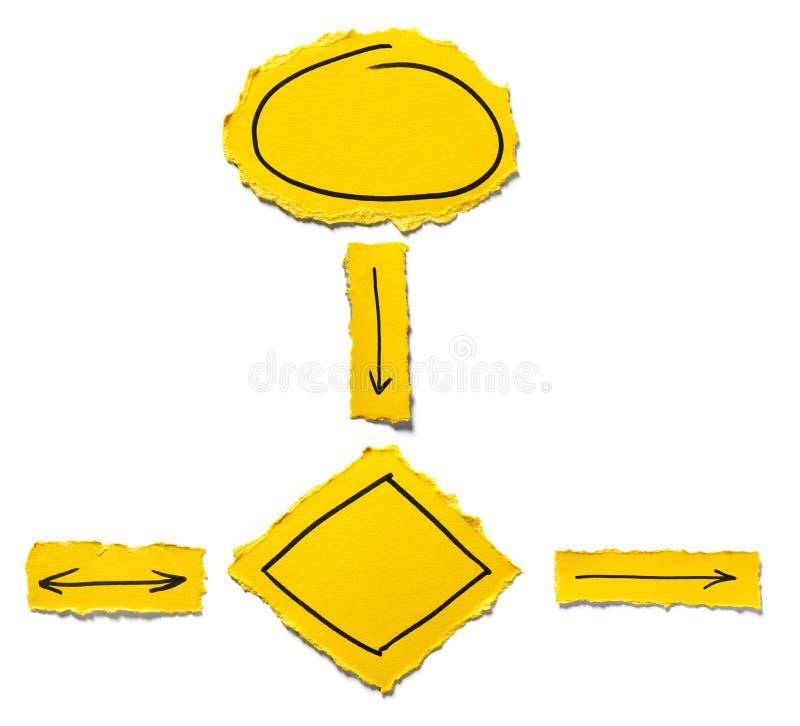 Żółty flowchart obrazy royalty free