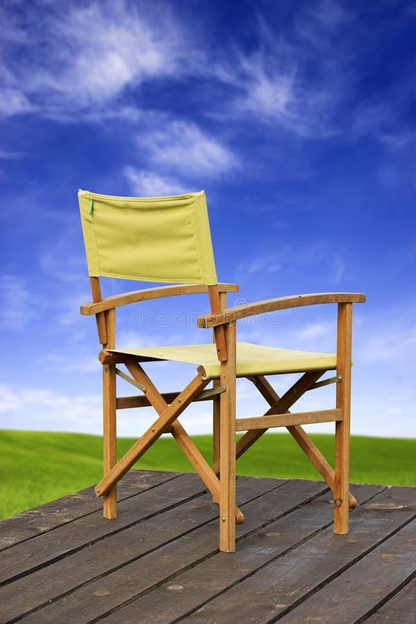 żółty fotel fotografia stock