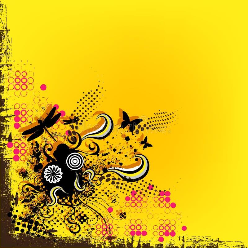 Żółty graniczny tło ilustracji