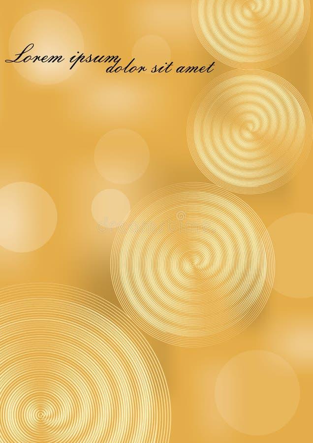 Żółty i złocisty abstrakcjonistyczny tło z Tło dla luksusowego zaproszenia royalty ilustracja