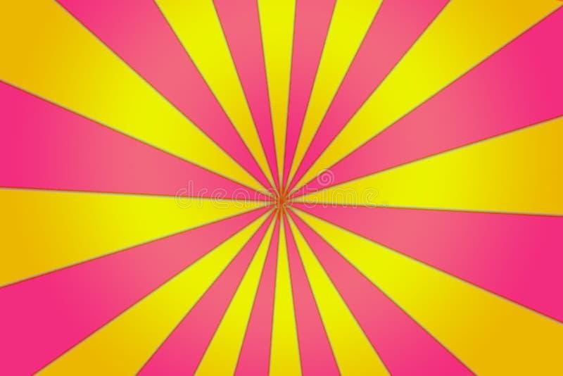 Żółty I Zatarty szpilki szpilki koło ilustracja wektor