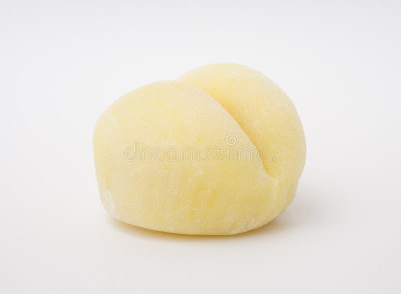 Żółty Japanaese Mochi Tradycjonalnie Przygotowywający obraz stock