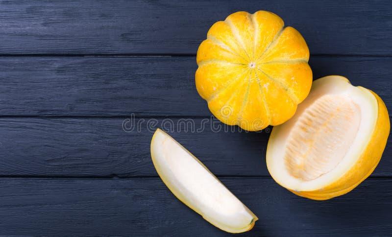 Żółty kantalupa melon obrazy stock