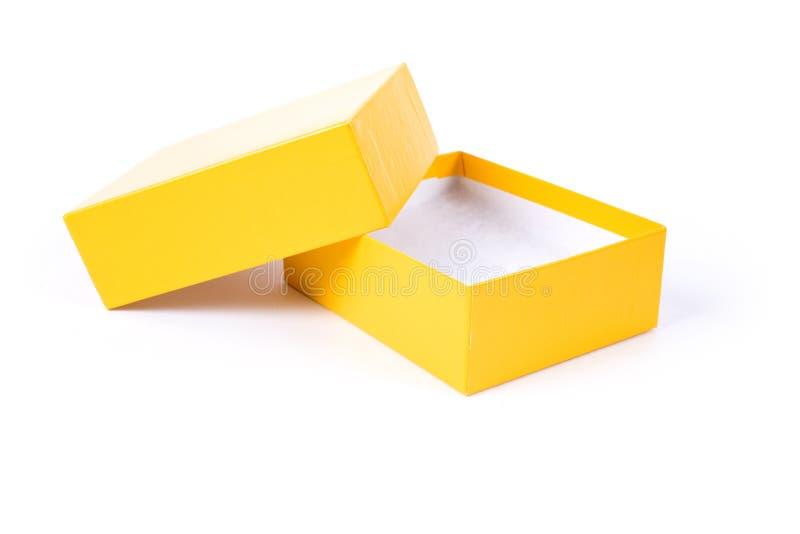 Żółty kartonowe zdjęcie stock