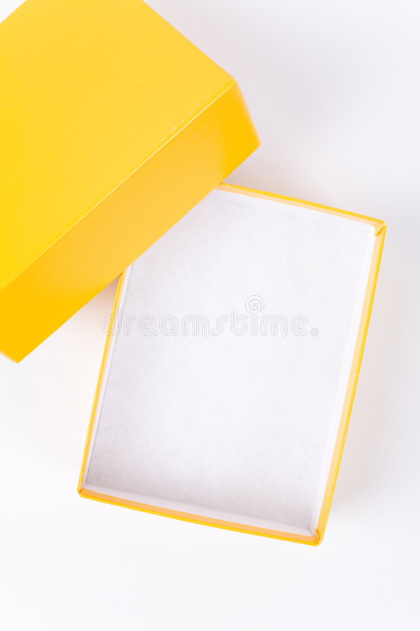 Żółty kartonowe obraz stock