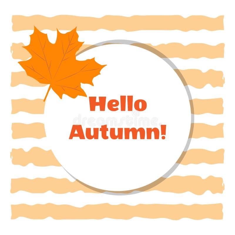 Żółty klonowy jesień liść na tle barwioni lampasy Cze?? jesieni poj?cie zdjęcie royalty free