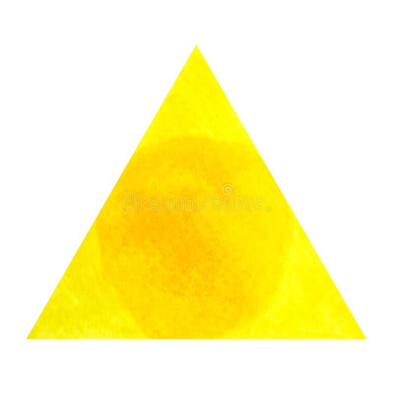 Żółty kolor chakra symbolu słonecznego plexus pojęcie, akwarela obraz ilustracja wektor