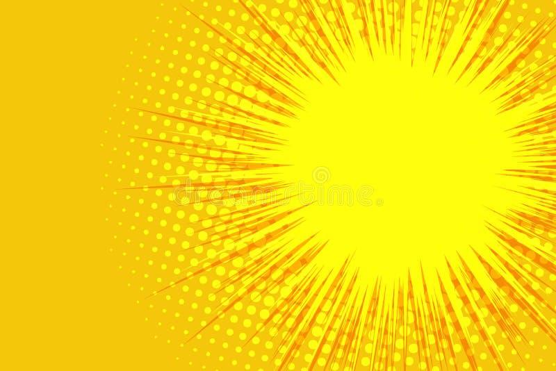 Żółty komiczny tło royalty ilustracja