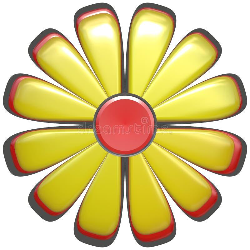żółty kwiat abstrakcyjne ilustracji