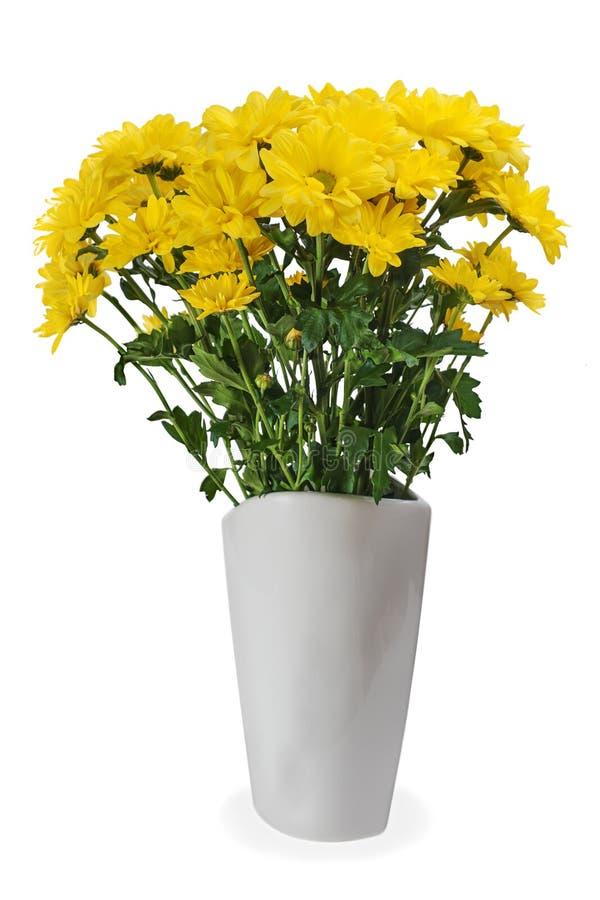 Żółty kwiatu bukieta przygotowania centerpiece zdjęcia royalty free