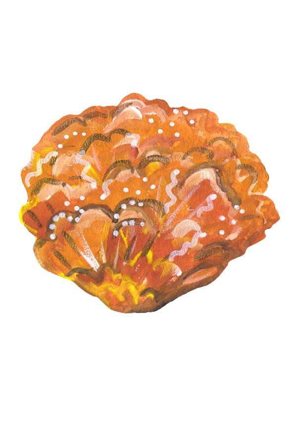 Żółty meksykański kwiatu guasz ilustracja wektor