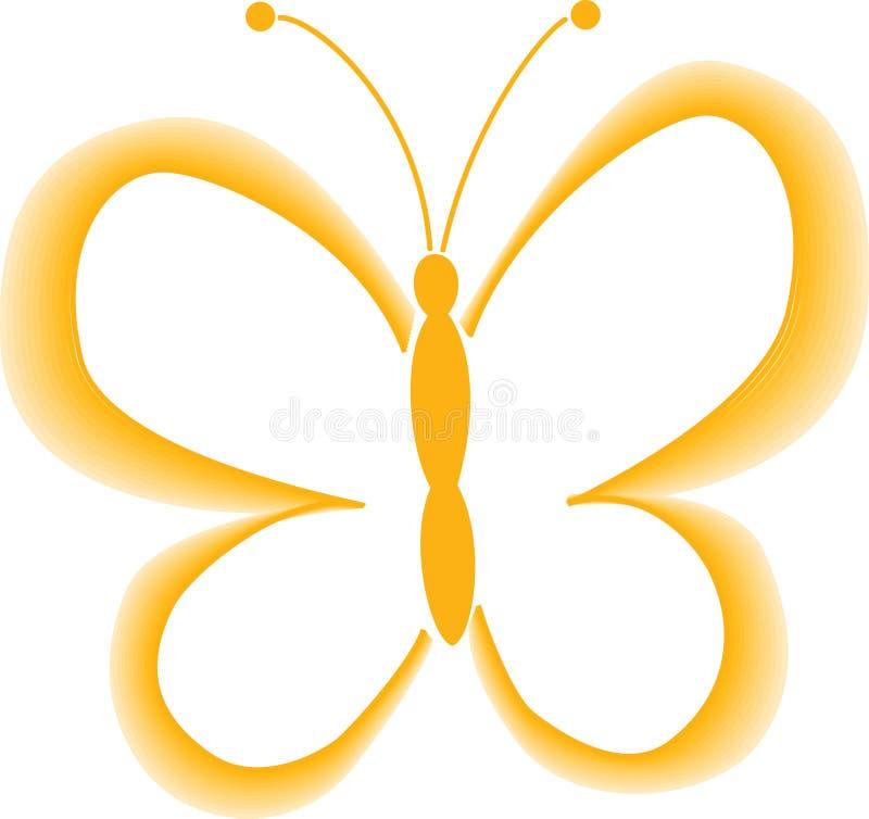 Żółty motyl wektor zdjęcie stock
