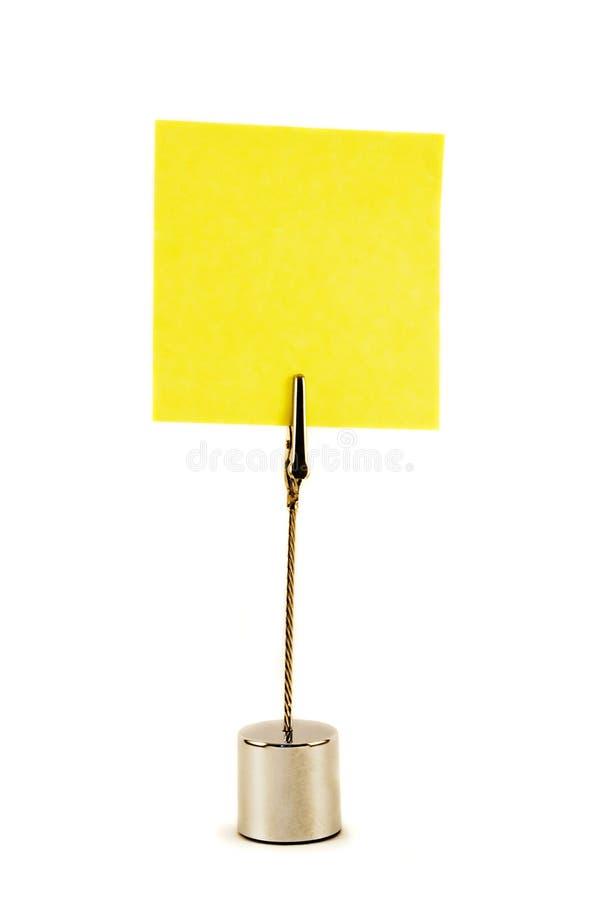 Żółty naklejki fotografia royalty free