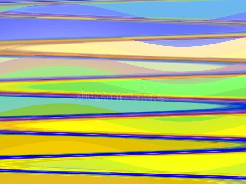 Żółty niebieskich linii geometrii tło, grafika, abstrakcjonistyczny tło i tekstura, royalty ilustracja