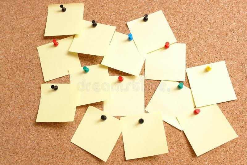 Żółty notatki pocztę zdjęcie royalty free