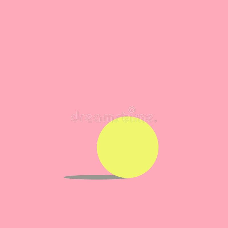 Żółty okrąg menchii tło royalty ilustracja