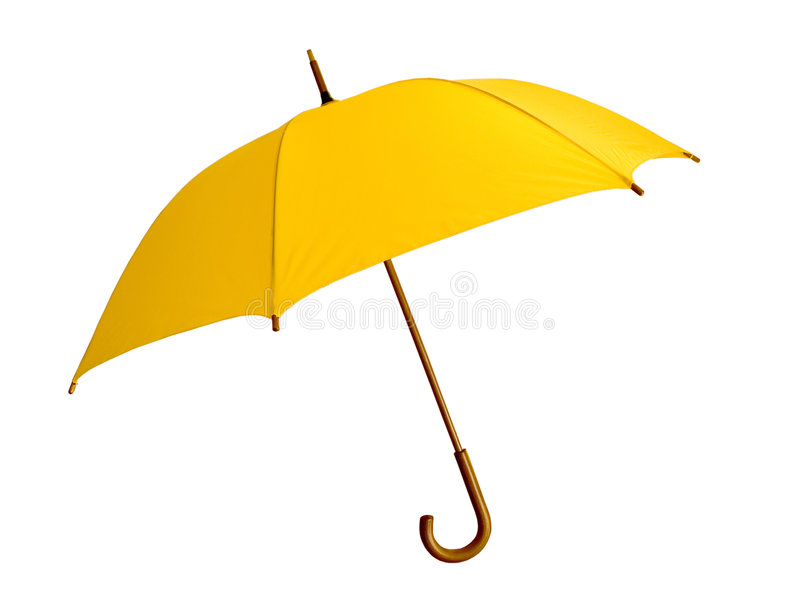 Żółty parasolowy obraz royalty free