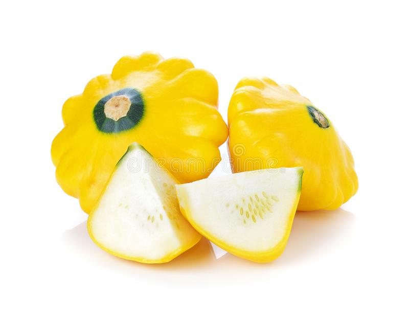 Żółty pasztecika niecki kabaczek zdjęcie stock