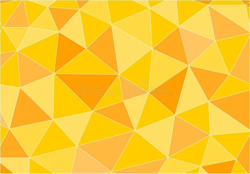 Żółty poligonalny wektorowy tło ilustracji
