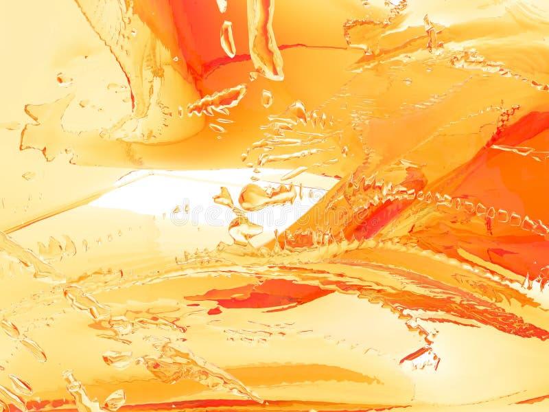 Żółty pomarańczowy ciekły pluśnięcie odizolowywający na białym tle zdjęcie stock