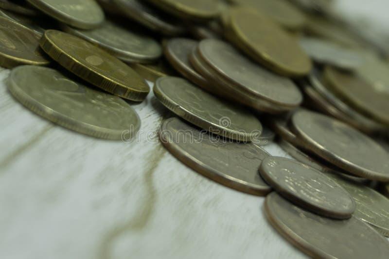 Żółty rosyjski cent ukuwa nazwę błahostki bogactwa symbol fotografia stock